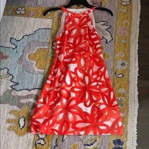 Trina Turk Orange Floral Dress